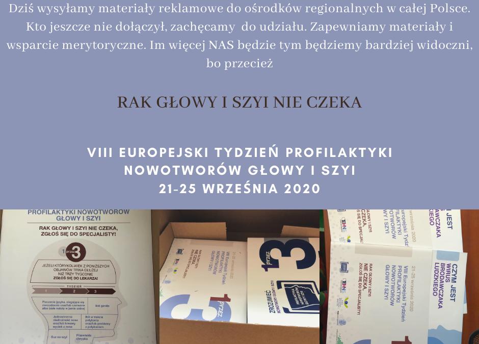 Przygotowania do VIII Europejskiego Tygodnia Profilaktyki Nowotworów Głowy i Szyi rozpoczęte!
