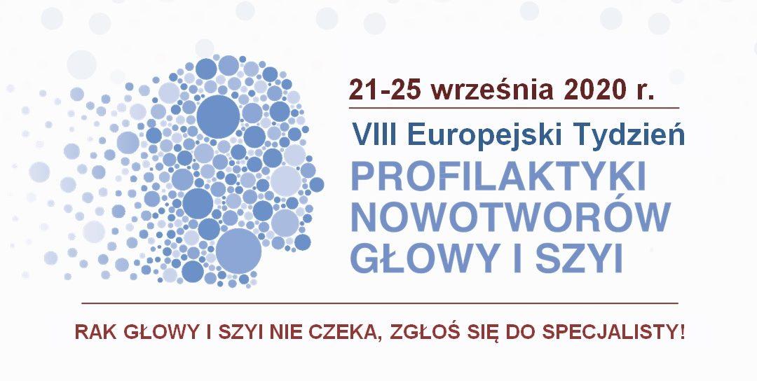 VIII Europejski Tydzień Profilaktyki Nowotworów Głowy i Szyi
